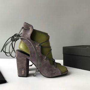 YSL lace up heels